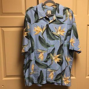 Jamaica Jaxx 100% Silk Button Down Shirt